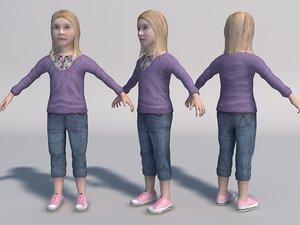 baby girl games girl05 3d model