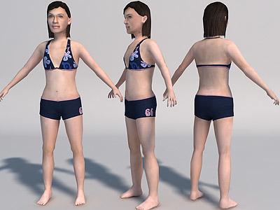 3d teenager girl games model