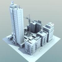 3d model definition city block cityscapes