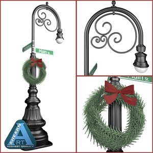 lightwave decorative street lamp holiday