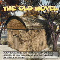 hovel farm rural 3d obj