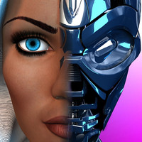3d terminator tx woman body model