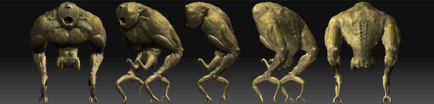 monster alien 3d model
