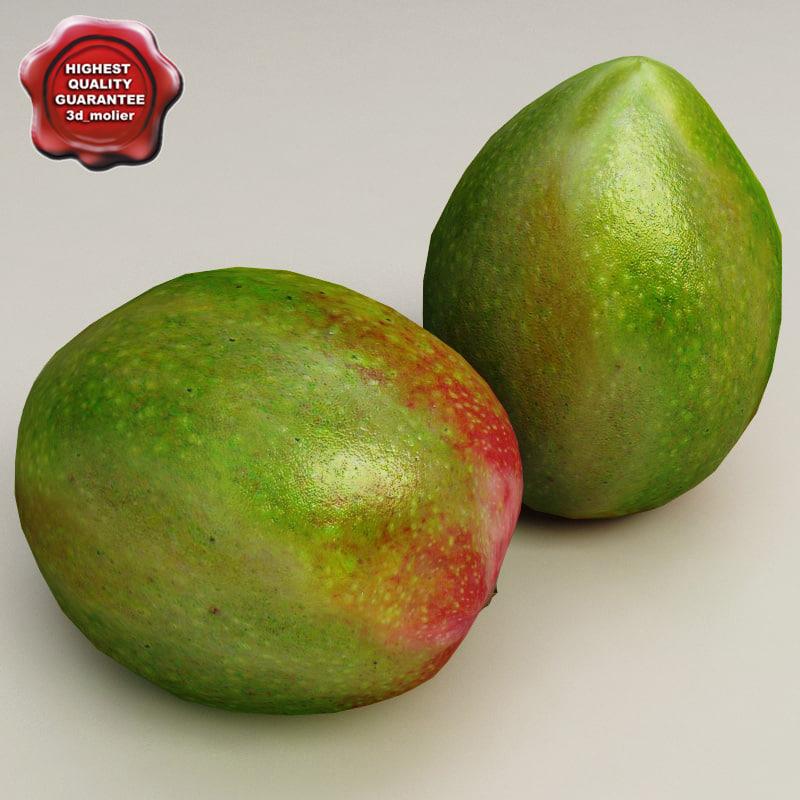 3d mango modelled
