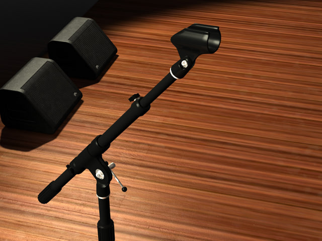 3d k m microphone stand
