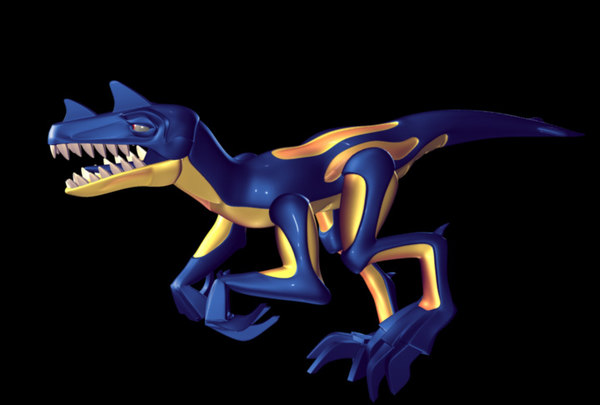 maya raptor rigged