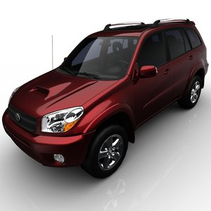toyota rav4 s 3d model