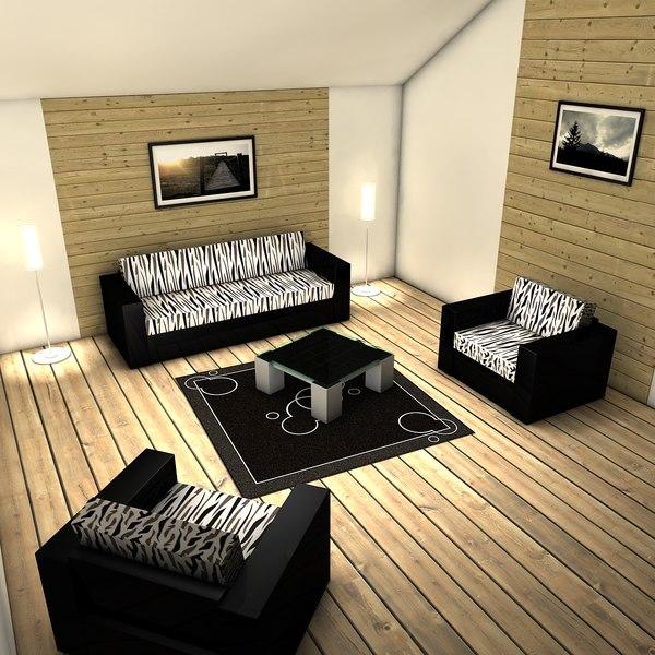 dxf living room interior design