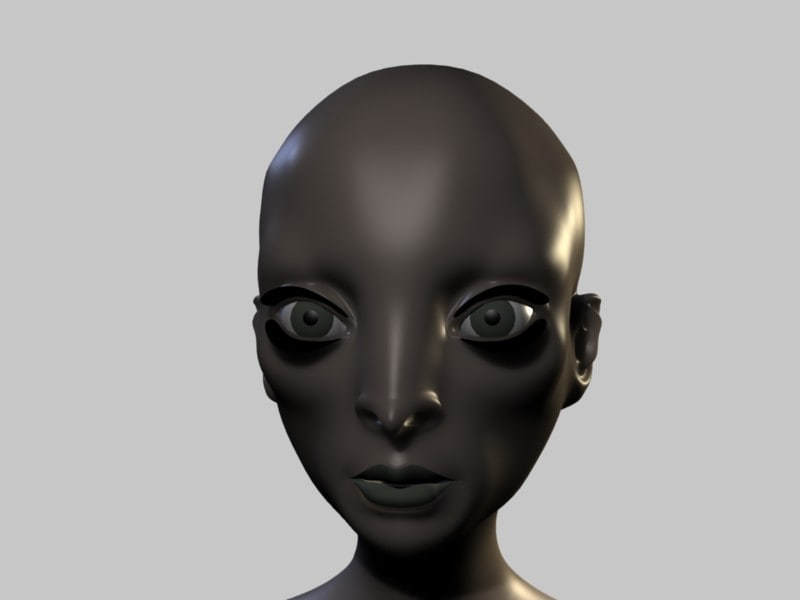 cartoon head 3d model