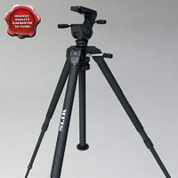 3d model of tripod slik professional