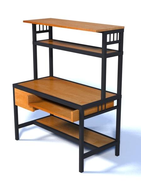 lwo steel framed desk w