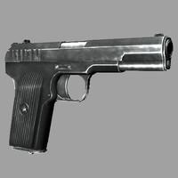 3d tt gun model