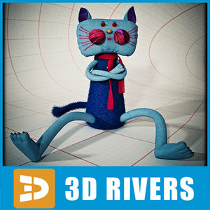 3ds max plush cat toy