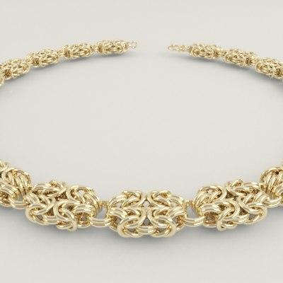 3d byzantine chain necklaces