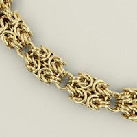 3d byzantine chain necklaces