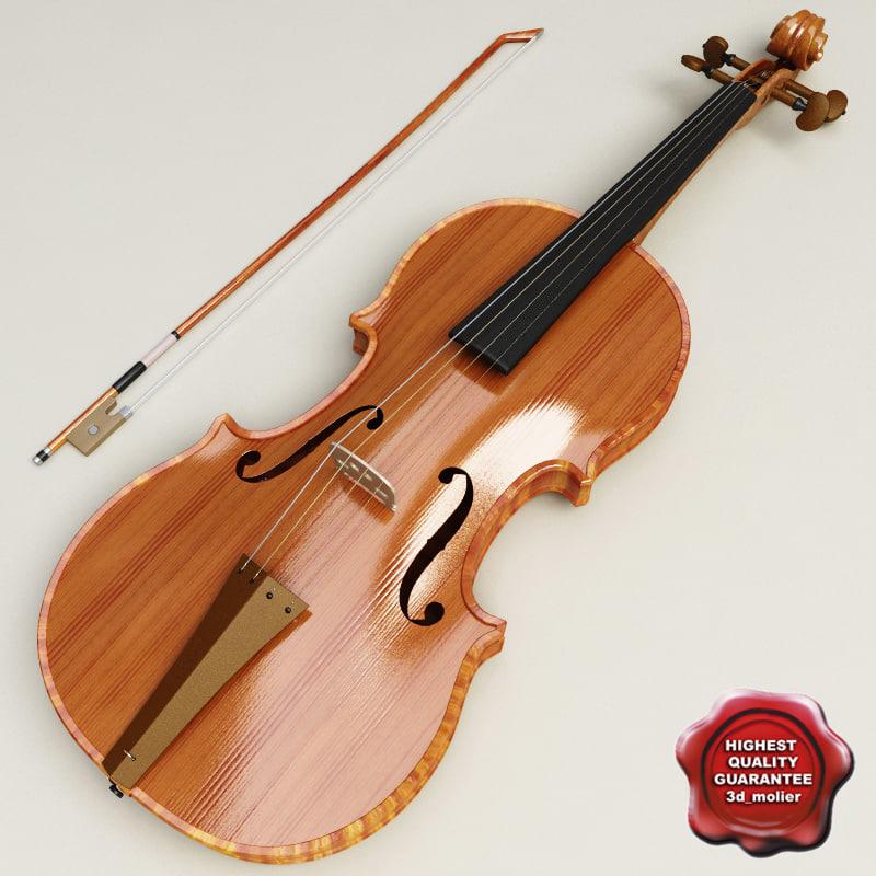 violin modelled max