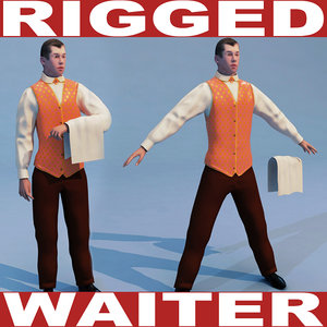 waiter rigged biped max