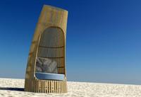 3d designer beach chair model