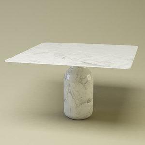 bottle table design 3d model