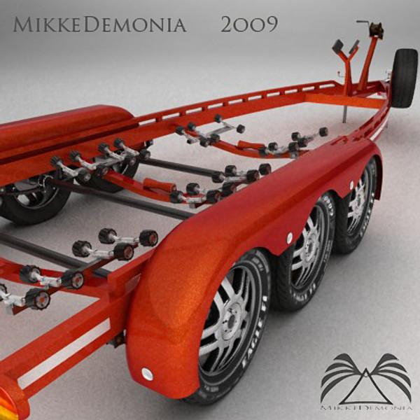 3dsmax boat trailer