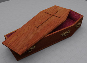 3d model coffin