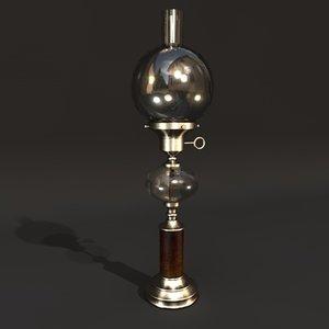 3d victorian oil lamp