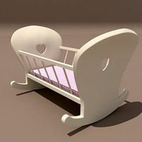 3ds max wooden cradle