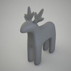 deer figure christmass 3d model