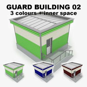 3d guard building 02 model