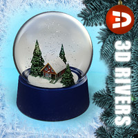 House snow globe  01 by 3DRivers