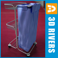 housekeeping cart 3d 3ds