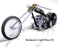 lightwave skull theme chopper