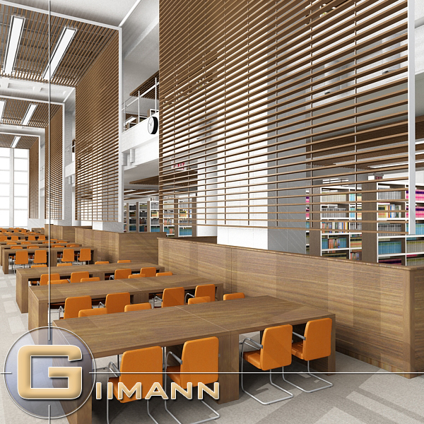 library version 3d model