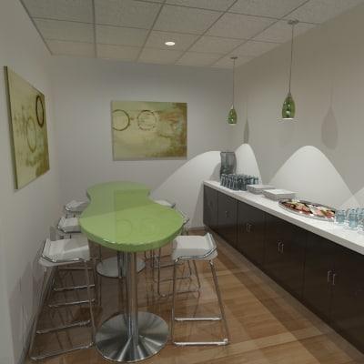3d model office kitchen