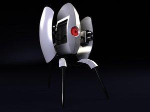 3d model turret portal