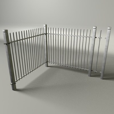 3d model fence metal