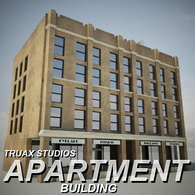 truax apartment building 03 3d model