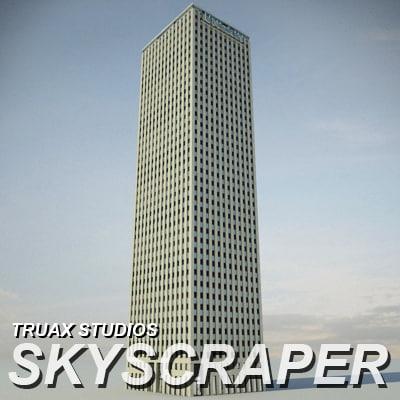 3d truax skyscraper 01 model
