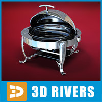 Round chafing dish 01 by 3DRivers