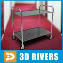 Room service cart 03 by 3DRivers