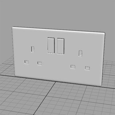 maya double socket
