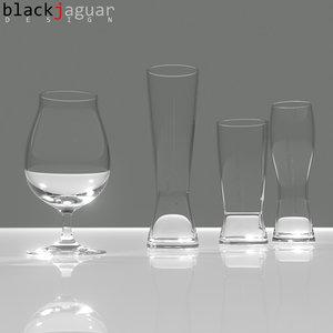 3d model spiegelau beer classics glass
