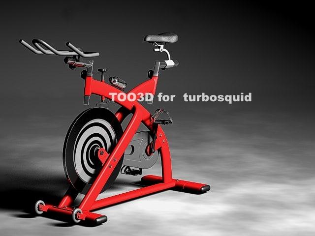 3d spin bike model