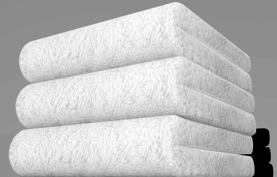 fold towels 3d max