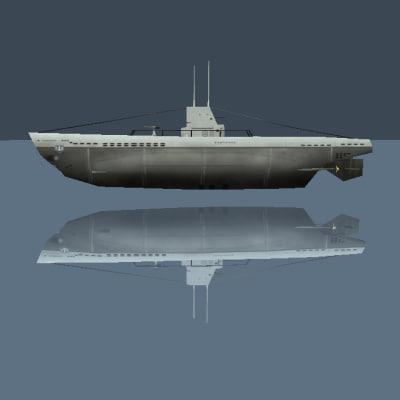 3d german type ii u-boat
