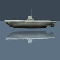 3d german type ii u-boat