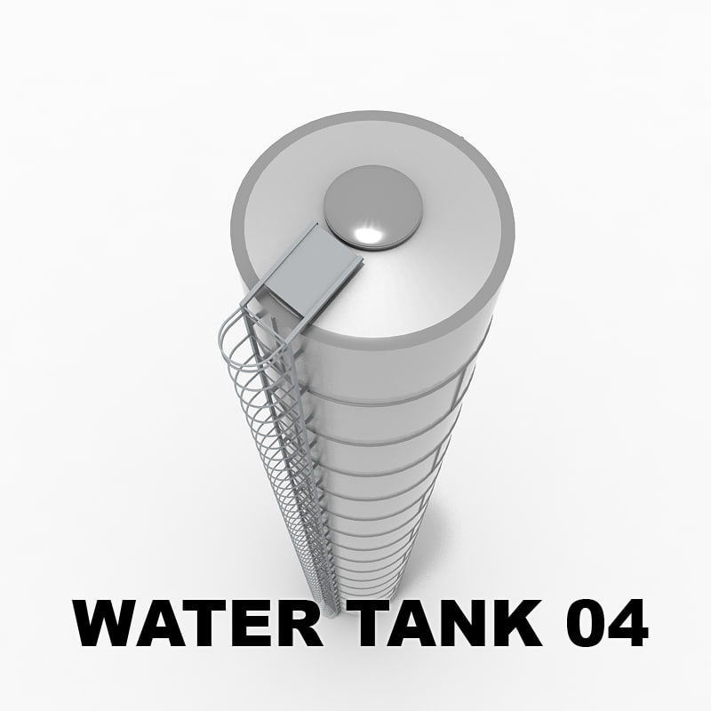 3d model of water tower 01