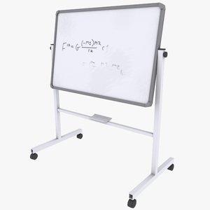 3d model white board school