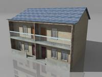 duplex house double story 3d ma