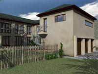 3d model of modern house 02